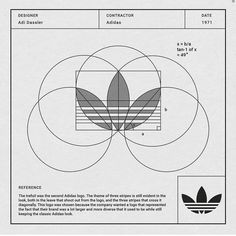 Adidas logo construction