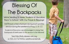 Blessing of the Backpack
