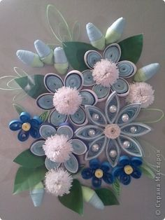 Love the look of the pearls on this quilled piece.  via stranamasterov.ru