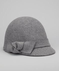 Mixed Gray Bow Wool Riding Cap...got it in blk but this grey is cute too
