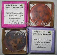 """""""Handmade by María Luz"""": Jabones de glicerina florales"""