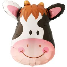 Cow Face SuperShape 31 Foil Balloon On the Farm Party Cow Birthday Parties, Cowgirl Birthday, Farm Birthday, Birthday Balloons, Birthday Ideas, Giant Balloons, Foil Balloons, Latex Balloons, Cow Face