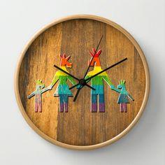 Unicorn Rainbow Family #1 Wall Clock