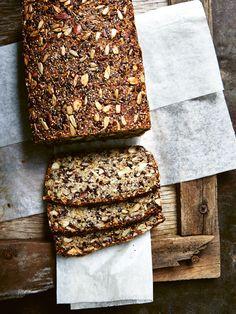 Quinoa Bread, Vegan Bread, Loaf Recipes, Baking Recipes, Gluten Free Baking, Gluten Free Nut Bread Recipe, Healthy Gluten Free Bread Recipe, Gluten Free Breads, Paleo Nuts