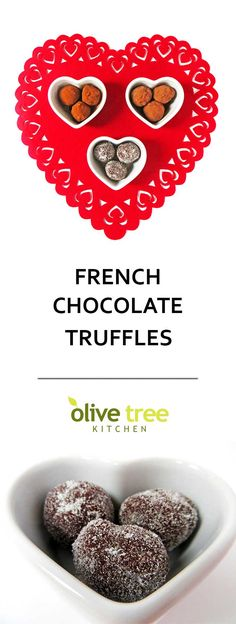 Rich, buttery and oh so chocolatey, these easy chocolate truffles are an authentic French recipe and perfect for a romantic Valentine's Day treat!