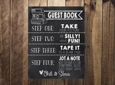 Polaroid Guest book Sign wedding Guest Book Sign Photo Guest Book by…