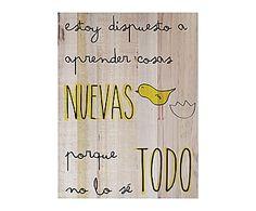 Impresión de madera de pino Pajarito - 45x60 cm
