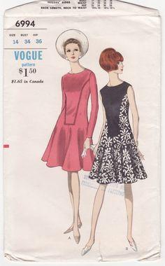 Vogue 6994 : One-Piece Dress || circa 1960s