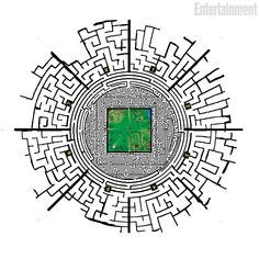 After his arrival he's been told tat he's insida a big maze with in the center the Glade.