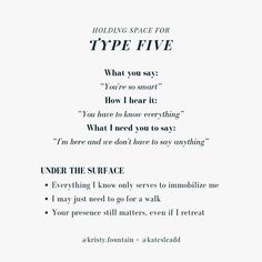 If you've been tuning into my IG stories the last couple of weeks, you'd see a lot of this theme coming up in my questions and sticker… Mbti, Type 7 Enneagram, Infj Type, Intj Personality, Under The Surface, E Type, Leadership Quotes, Inner Child, Psychology