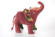 Another cutie! Elephant Plush Animal, Red on OneKingsLane.com