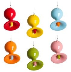 a new take on the hummingbird feeder, in love with the red one, or maybe the blue one...