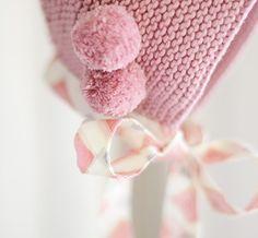 Capota Punto bobo color Rose con lazo | Nottocbaby