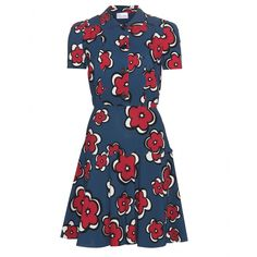 REDValentino - Floral-printed dress - REDValentino's dress is infused with girlish charm. It has a contrasting red floral print, a crisp button placket and a pleated skirt. Opt for sneakers to style it with a little streetwise edge. seen @ www.mytheresa.com
