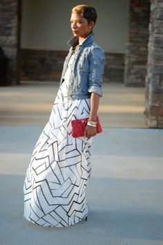 Maxi + Denim (Week of Denim) | YOUNG AT STYLE