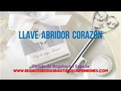 Regalos Bodas: Llave abridor corazon - YouTube