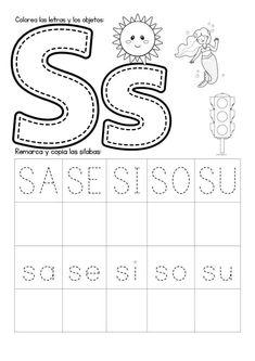 Preschool Writing, Kindergarten Math Worksheets, Preschool Education, Worksheets For Kids, Spanish Lessons For Kids, Learning Spanish, Infant Activities, Preschool Activities, Grande Section