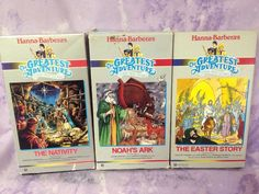 Hanna Barbera's Greatest Adventure Stories From the Bible Animated VHS LOT of 3