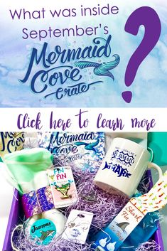Unboxing : Mermaid Cove Crate September 2018 - What was inside the subscription box? gifts for women mermaid stuff subscription boxes monthly subscription boxes Mermaid Leggings, Mermaid Shirt, Mermaid Gifts, Subscription Boxes For Girls, Monthly Subscription, Mermaid Off Duty, Mermaid Cove, Mermaid Outfit, Leagues Under The Sea