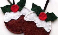 Adornos de Navidad en fieltro Xmas Crafts, Christmas Projects, Diy And Crafts, Navidad Diy, Felt Birds, Felt Christmas Ornaments, Homemade Christmas, Holiday Decor, Gifts