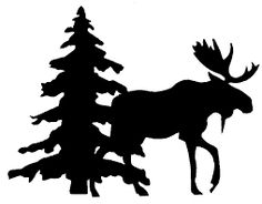 Image result for moose silhouette png                              …