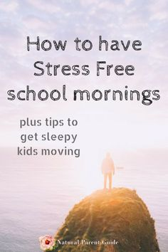 Get kids moving in the morning and ready to go back to school quickly with a simplified morning routine. Plus tips for getting sleepy kids moving. Whether pre school, elementary, or high school kids, these tips will help make the morning rush smoother. #a