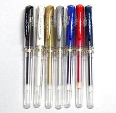 Uni-ball Signo Broad UM-153 Gel Ink Pen, 7 colors set (