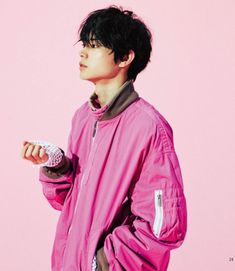 I love this photo for two reasons, one he is wearing one of my favorite colors (pink) and two he looks really cute lol