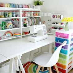 Shop for Furniture, Home Accessories & Sewing Room Design, Sewing Room Storage, Craft Room Design, Sewing Spaces, My Sewing Room, Craft Room Storage, Sewing Rooms, Diy Storage, Room Organization