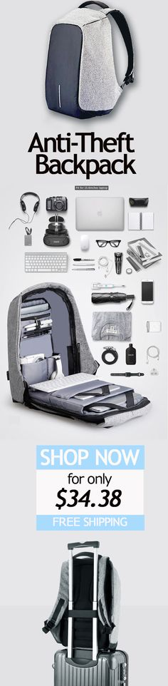 7554098e69 Anti-theft Backpack Bobby Best Laptop Bag With USB Charger College Backpack  Women