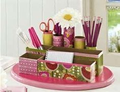 Con cajas de carton se puede hacer un lindo organizador,