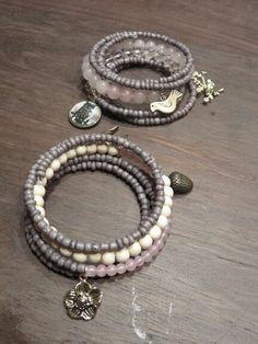 Wrap charm bracelets