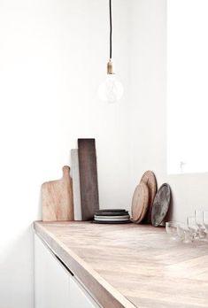 Stunning timber kitchen bench top
