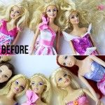 How to Detangle Doll Hair Tutorial --or how to fix hot mess Barbie which we have copious amounts of