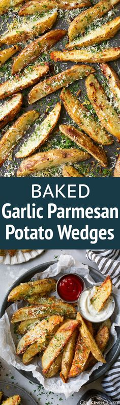 Baked Garlic Parmesan Potato Wedges - Cooking Classy