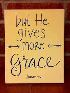 Grace upon Grace // Bible Verse Canvas // Hand Lettering