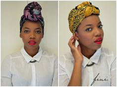 How To: Tie a Head Scarf 2 Ways - LOVE 416