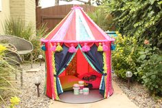 Ikea Hack with Fabric Mod Podge! Make a Boho Play Tent from the CIRKUSTÄLT Tent