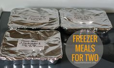 Freezer Meals for Two - Happy Money Saver | Homemade | Freezer Meals | Homesteading