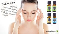 Essential Oils can help to relieve headaches naturally!