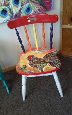 Rooster chair $75