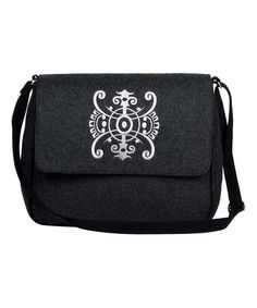 Look at this #zulilyfind! Dark Gray & White Swirl Shoulder Bag #zulilyfinds
