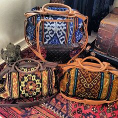 Gorgeous weekender bags.