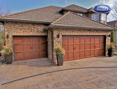 Infinity Classic Model I100A VG WG Dark Walnut PC Finish Garage Doors