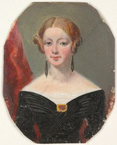 """""""Portrait of A Victorian Lady"""" English Oil on Ivory Miniature CA 1840   eBay"""
