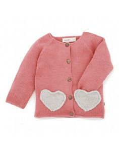 OEUF ♥ HEART KNIT CARDIGAN - PINK