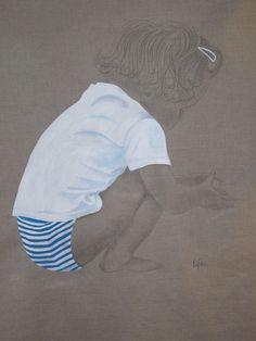 Silhouette enfant - Album photos - De la tête aux pinceaux........ Painting People, Illustrations, Coffee Art, Portrait Photo, Watercolor Paintings, Art Drawings, Photos, Pictures, Street Art