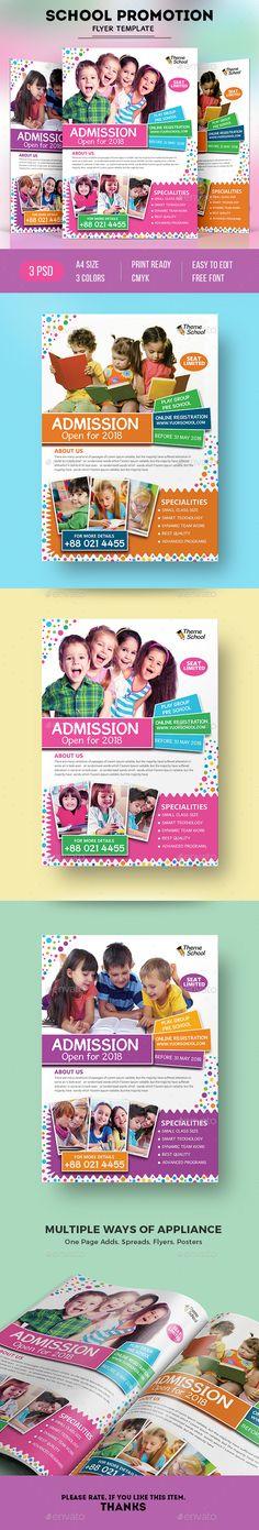 School Flyer Template for promoting school and preschool business download https://graphicriver.net/item/school-flyer/19361185?ref=themedevisers