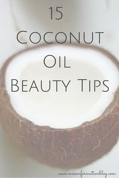 Coconut Oil Uses - 15 Coconut Oil Beauty tips, also the most popular uses of coconut oil 9 Reasons to Use Coconut Oil Daily Coconut Oil Will Set You Free — and Improve Your Health!Coconut Oil Fuels Your Metabolism! Coconut Oil Beauty, Coconut Oil Uses, Coconut Water, Natural Beauty Tips, Health And Beauty Tips, Health Tips, Natural Oils, Natural Makeup, Beauty Care