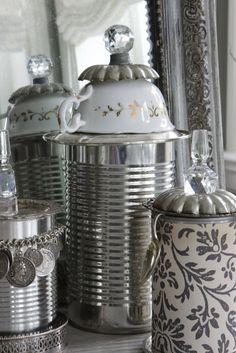 DIY:: Absolute Most Charming Simple Ways To Repurpose Tin Cans !
